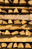Pile of chopped firewood for winter usage Royalty Free Stock Photos