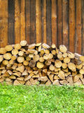Pile of chopped logs Stock Photos