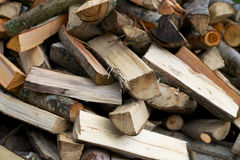 Pile of chopped logs Stock Images