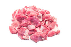 Pile of chopped  pork meat for goulash Stock Image