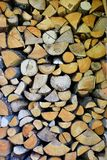 Pile of chopped stacked firewood royalty free stock photos