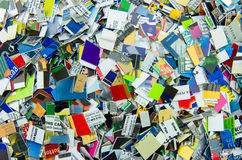 Pile of Chopped up Credit Cards Royalty Free Stock Images