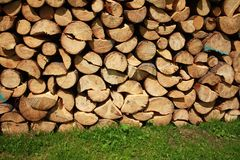 Pile of chopped wood Stock Photos