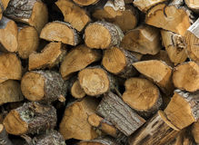 Pile Of Chopped Wood Royalty Free Stock Photography