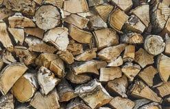 Pile Of Chopped Wood Royalty Free Stock Image