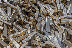 Pile Of Chopped Wood Royalty Free Stock Photo