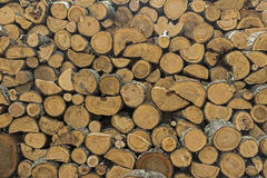 Pile Of Chopped Wood Royalty Free Stock Images