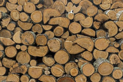 Pile Of Chopped Wood Royalty Free Stock Photos
