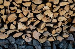 Firewood on the street royalty free stock photos