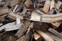 Pile of chopped wood. Winter may start Stock Photo