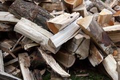 Pile of chopped wood. Winter may start royalty free stock photo