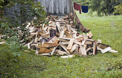 Pile Of Chopped Woods Royalty Free Stock Image