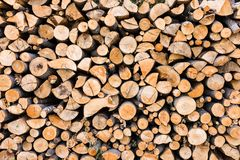 Old Pile Of Chopped Woods Royalty Free Stock Photography