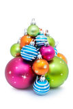 Pile of Christmas baubles Royalty Free Stock Photography