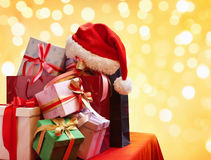 Pile of Christmas gift Royalty Free Stock Photos