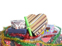 Pile of christmas gift Royalty Free Stock Image