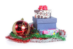 Pile of christmas gift Stock Images