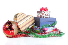 Pile of christmas gift Royalty Free Stock Photography