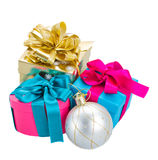 Pile of  christmas gift boxes Stock Image