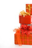 Pile of christmas gifts Royalty Free Stock Photos