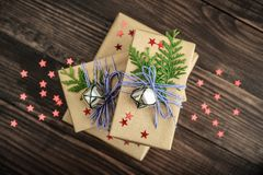 Pile of christmas gifts Royalty Free Stock Images
