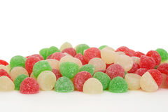 Pile of christmas gum drop candy Stock Image