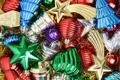 Pile of christmas ornaments Royalty Free Stock Photography
