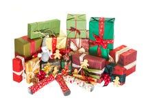 Pile of christmas presents Stock Photos