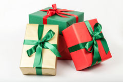 Pile of christmas presents Royalty Free Stock Photos
