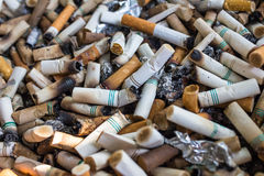 Pile of cigarette butts Stock Photography