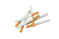 Pile Of Cigaretts, Anti Smoking. A isolated pile of cigaretts with white background Stock Photo