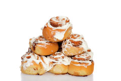 Pile of cinnamon buns Royalty Free Stock Photo