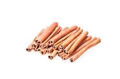 Pile of cinnamon sticks Stock Image