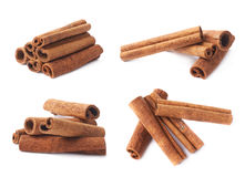 Pile of cinnamon sticks isolated Royalty Free Stock Image
