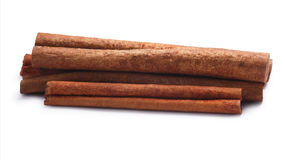 Pile of cinnamon sticks, paths Stock Images
