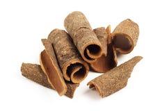 Pile of cinnamon sticks Stock Images