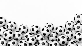 Pile of classic soccer balls Stock Image