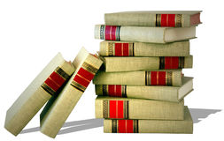 Pile of Classics. Stack of cloth-bound books of classic literature royalty free stock photos