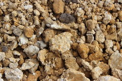Pile of clay. A pile of clay in different sizes and textures Royalty Free Stock Images