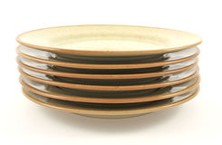 Pile of clean plates Stock Photography