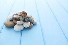 Pile of clean white smooth stones Royalty Free Stock Image