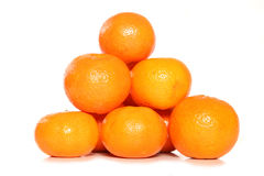 Pile of clementines. Studio cutout Royalty Free Stock Images