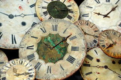 Pile of Clock Faces Royalty Free Stock Image