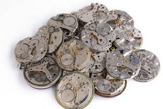 Pile of clockwork Royalty Free Stock Photo