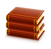 Pile of closed red books Royalty Free Stock Photo