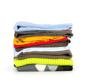 Pile of clothes Stock Image