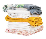 Pile of clothes stock images