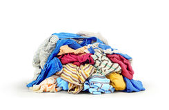 Pile of clothes isolated Royalty Free Stock Images