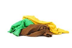 A pile of clothes. Over white background Royalty Free Stock Photos