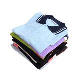 Pile of clothes on white background Royalty Free Stock Images